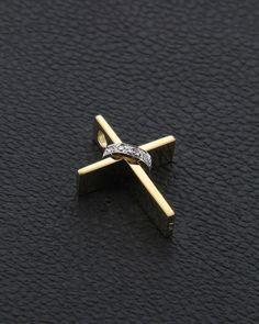Χειροποίητος Σταυρός Κ18 με Διαμάντια Wall Crosses, Cross Jewelry, Cross Paintings, Beautiful Earrings, Cross Pendant, Diamond Jewelry, Cufflinks, Pendants, Jewellery