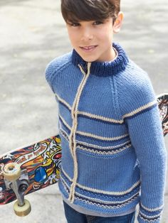 Getting Cold Zip Jacket | Yarn | Free Knitting Patterns | Crochet Patterns | Yarnspirations