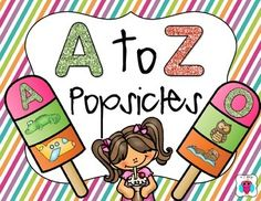 This is a set of popsicle cards that have the letters and two initial sound pictures.  They could be used as cards, or even cut in parts for letter puzzles.