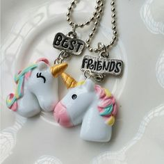 Buy Unicorn Best Friends Necklace Set online up to off + free worldwide shipping. Find the perfect Unicorn Best Friends Necklace Set present, novelty games and toys. Bestfriend Necklaces For 2, Bff Necklaces, Friendship Necklaces, Best Friend Outfits, Best Friend Gifts, Gifts For Friends, Best Friends, Unicorn Necklace, Moon Necklace