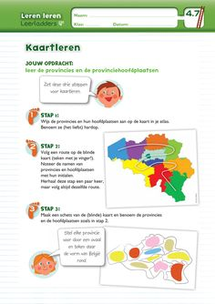 Leerladders 4 Map, Teaching, Creative, Projects, Kids, Day Planners, Europe, Dyslexia, Geography