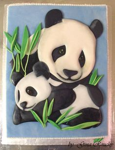 Panda Cake by *ginas-cakes on dA