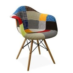 WOODEN ARMS Chair -Patchwork-
