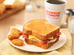 """Big N' Toasted = Eggs, bacon, cheese, and Texas toast. For the days when you say, """"Go Big, or Go Home."""""""