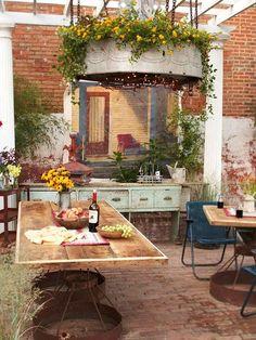 Vintage garden-rustic decor
