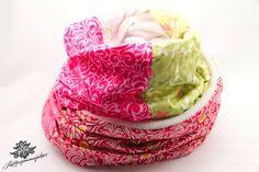 Pink - grüner Patchwork-Schal der #Lieblingsmanufaktur
