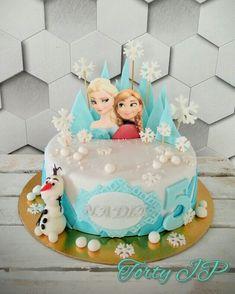 Frozen Birthday Cake, Frozen Cake, Unique Cakes, Maya, Party, Cake, Rainbow Unicorn Party, Birthday, Parties