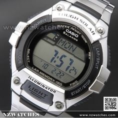 Casio Solar World Time 5 Alarms 100M Sport Watch W-S220C-4AV, WS220C