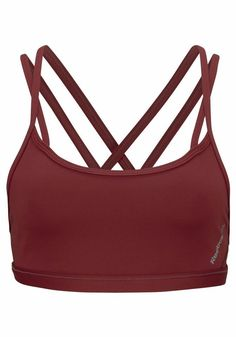 REEBOK Sport-BH »HERO STRAPPY BRA« in Braun | ABOUT YOU