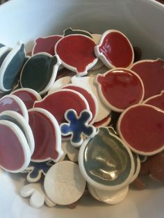 Fridge magnets   #smpottery #pottery #ceramics