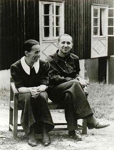 Helene Weigel und Bertolt Brecht, Lidingö, Stockholm, 1939.