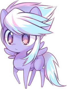 This is prancer, shes a baby and does not have a cutie mark so pls adopt (cloudchaser is her older sister)