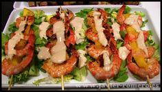 Brochetas de carne o pescado, receta casera - Cocina familiar