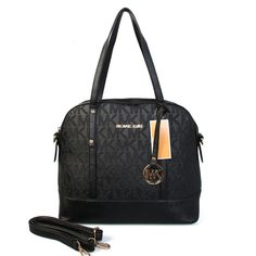 Cheap Michael Kors Logo In Signature Medium Black Totes Clearance ($67)
