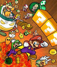 The Super Mario Brothers by =TheBourgyman