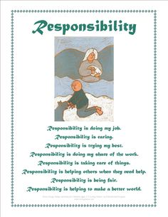 Responsibility Activity Sheets | Download Values Posters