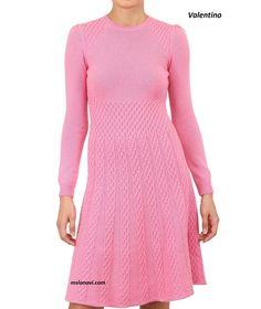 Вязаное платье аранами Valentino