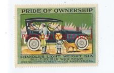 CHANDLER LIGHT WEIGHT SIX AUTOMOBILE - BEAUTIFUL ca1920 Vintage Poster Stamp