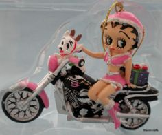 Betty Boop Tree Ornament Pink Motorcycle Pup Antlers Kurt S Adler New Christmas