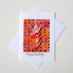 Cool origami birthday cardsbirthday wish cardbirthday card origami birthday cardhandmade cardpersonalizedgifts for herhappy birthdaypink bookmarktalkfo Choice Image