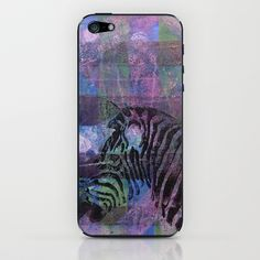 Gel Zebra Profile iPhone & iPod Skin by Rachel Winkelman - $15.00