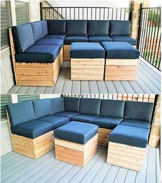 New Fresh And Fabulous Pallet Tips Ideas Pallet Beds, Pallet Sofa, Pallet Chairs, Wooden Pallet Projects, Wooden Pallets, Deck Furniture, Pallet Furniture, Patio Yard Ideas, Pallette