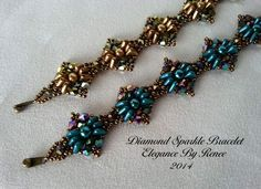 Diamond Sparkle Bracelet Tutorial - Free Earrings Tutorial Included - 2 PDF Instant Download
