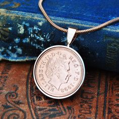 Birthday Necklace, 1998 Coin Necklace, Birthday Gift for Her, Birthday Daughter, English Coin Necklace Copper Anniversary Gifts, Anniversary Present, Coin Necklace, Pendant Necklace, English Coins, Gold Plated Necklace, Birthday Gifts For Her, Present Gift, Rose Gold Plates