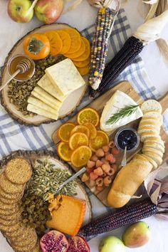 """The """"Recipe"""" for a Fall Inspired Cheese Board. This is the easiest appetizer spread ever!"""