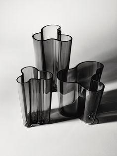 Aalto Vases, grey. Image © Fiskars Finland.