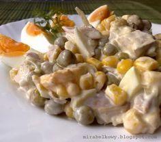 Salatka z wedzonym kurczakiem i jajkami Potato Salad, Potatoes, Eat, Ethnic Recipes, Food, Potato, Essen, Meals, Yemek