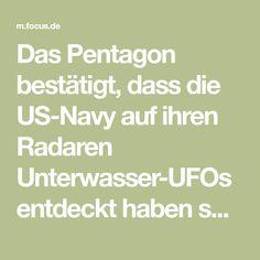 Das Pentagon bestätigt, dass die US-Navy auf ihren Radaren Unterwasser-UFOs entdeckt haben soll. Ihre Geschwindigkeit soll weit höher sein, als die aller bekannten U-Boote. Bokeh, Ufo, Focus Online, Us Navy, Pentagon, Boquet