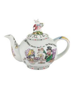 Look what I found on #zulily! Alice in Wonderland White Rabbit 18-Oz. Teapot #zulilyfinds