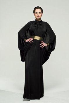 Designer Inspired Abaya - So elegant! Arab Fashion, Islamic Fashion, Muslim Fashion, Modest Fashion, African Fashion, Fashion Outfits, Middle Eastern Fashion, Estilo Hippy, Mode Simple