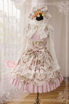 >> Click to Buy << Pretty Girl Sweet Magic Tea Party JSK Floral Lolita Dress Spring Summer Daily Dress+Headdress #Affiliate