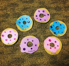 Doughnut door decs with gem stones