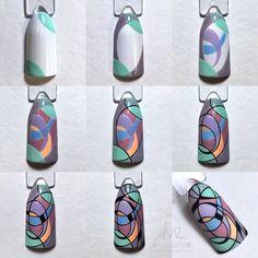 Nail art Christmas - the festive spirit on the nails. Over 70 creative ideas and tutorials - My Nails Nail Art Diy, Cool Nail Art, Swag Nails, Fun Nails, Geometric Nail, Formal Nails, Winter Nail Art, Flower Nail Art, Nail Shop