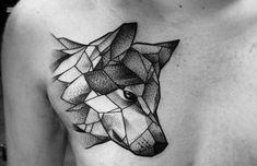 ▷ Wolf tattoo models for women and men Elephant Tattoos, Wolf Tattoos, Geometric Wolf Tattoo, Geometric Animal Tattoo, Tattoo Models, Tattoo Homme, Geometric, Geometric Tattoo, Tribal Art Designs