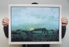 Screen Printed Poster of Maine Farm by KrisJohnsen on Etsy, $40.00