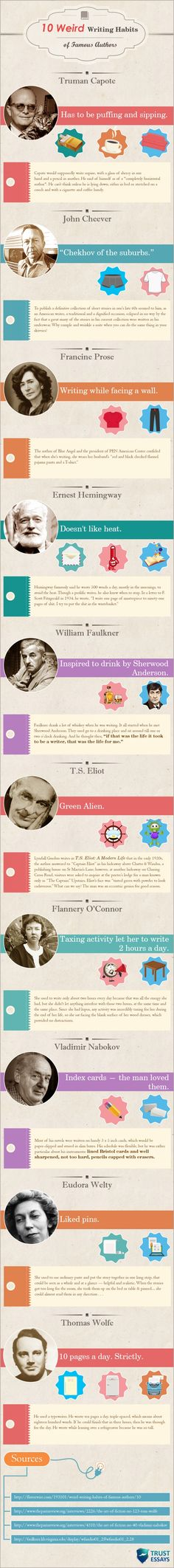10 Weird Writing Habits of Famous Authors