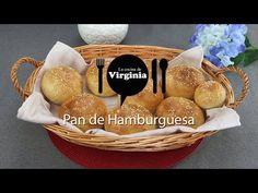 Pan de hamburguesa - La Cocina de Virginia Pan Relleno, Pan Bread, Serving Bowls, Hamburger, Picnic, Tableware, Breads, Hamburger Bun Recipe, Meals