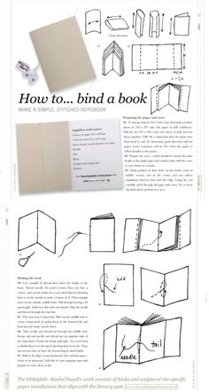 How To Bind A Book (from Selvedge)