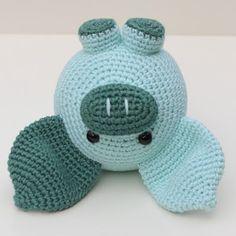 Varkentje haken | draadenpapier | Kooppatroon van JaMigurumis #crochet #pig