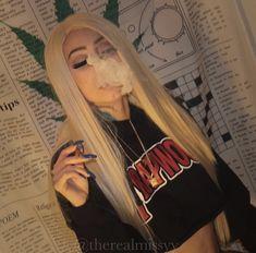 Weed Girls, 420 Girls, Boujee Aesthetic, Bad Girl Aesthetic, Girl Smoking, Smoking Weed, Thug Girl, Blowing Smoke, Hi Babe