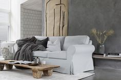"""Silver And Grey Living Room Cockrill, Mary. """"How to Decorate a Living Room With a Large Brown Leather Sectional."""" Home Guides Silver Living Room, Simple Living Room, Living Room Grey, Living Room Carpet, Small Living Rooms, Living Room Modern, Living Room Decor, Ektorp Sofa, Minimalist Room"""
