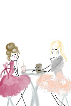 Ladies at tea