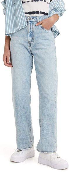 Levi's Women's High Waisted Straight Jeans, Charlie Boy - Light Indigo, 28 (US 6) at Amazon Women's Jeans store Levis Pants, Denim Leggings, Slim Jeans, Women's Jeans, Jeans Store, Capsule Wardrobe, Boy Fashion, Indigo