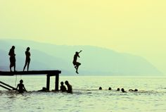 Have a diving competition with friends. #Socialize #SummerResolutions