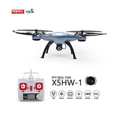 YKS SYMA Wifi FPV Quadcopter with HD Camera and Altitude Hold Mode Function 2016 Upgraded Version on Syma (Blue) *** Details can be found by clicking on the image. Uav Drone, Drones, Drone For Sale, Wifi, Blue, Accessories, Image, Jewelry Accessories