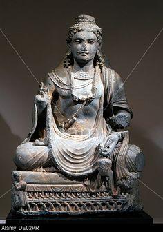 Image from http://c8.alamy.com/comp/DE02PR/statue-of-maitreya-the-buddha-of-the-future-from-gandhara-kushan-period-DE02PR.jpg.
